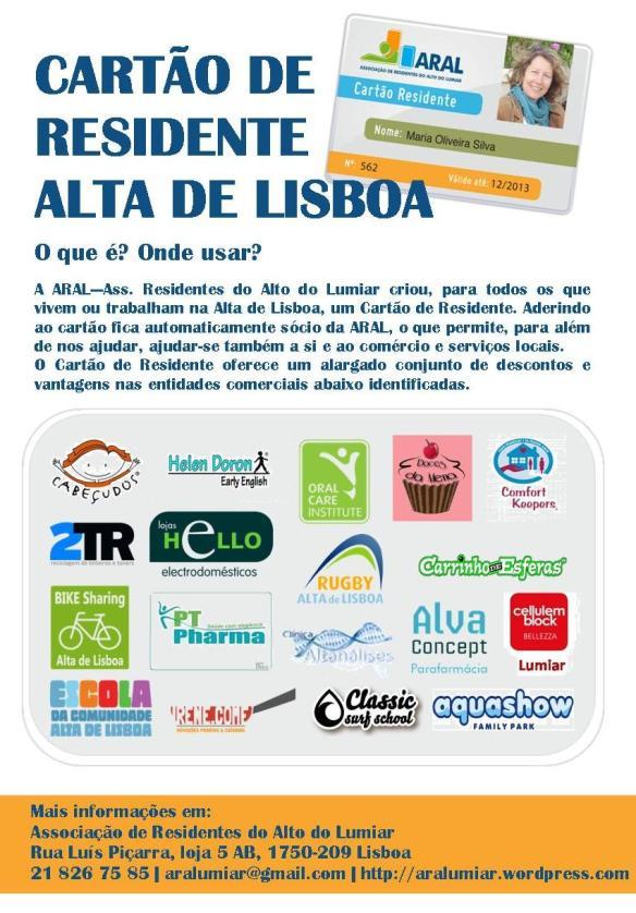 Cartaz Cartão de Residente
