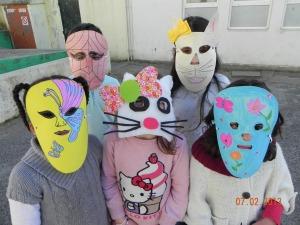 Algumas das máscaras selecionadas (1º ano)