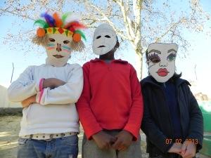 As três máscaras vencedoras!